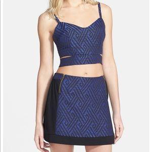 NWT ASTR Two-Piece Mini Skirt Diamond Jacquard